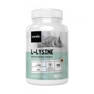 L-Lysine für Katzen - Natürliche Immunitäts Hilfe Ergänzung für Kätzchen und Katzen - 120 Tabletten - Animigo