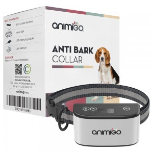 Anti-Bell Halsband für Hunde - Hundetrainingshilfe ohne Elektroschock - Wetterfest - Vibration und Signaltöne - Animigo