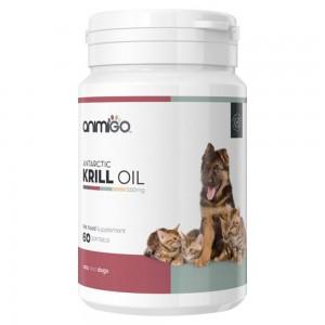 Krill Öl Kapseln - Omega 3 Wellness Nahrungsergänzung für Katzen & Hunde - Animigo