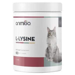 L-Lysine für Katzen - Natürliche Immunitäts Hilfe Ergänzung für Kätzchen und Katzen - 60 Kau-Snacks - Animigo