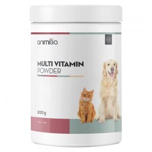 Multi Vitamin Pulver - Haustier Multi Vitalitäts Ergänzungspulver für Katzen und Hunde - 200g
