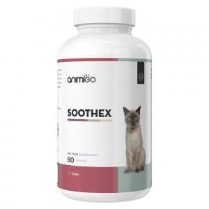 Soothex für Katzen - Natürlich beruhigende Ergänzung für gestresste & ängstliche Katzen - 60 Kapseln - Animigo
