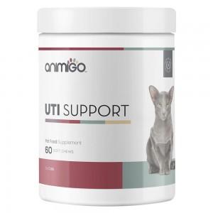 UTI Unterstützung für Katzen - Natürliche Harnwegs Pflege Soft-Snack Ergänzung - 60 Soft-Snack - Animigo